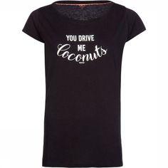 Protest Impossible T-Shirt Dames Zwart T Shirts For Women, Mens Tops, Fashion, Moda, Fashion Styles, Fashion Illustrations