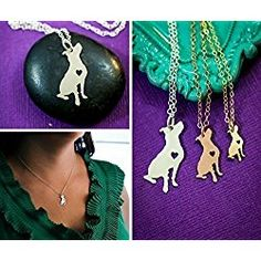 Pitbull Rescue Necklace - IBD - Personalize with Name or Date - Choose Chain Length - Pendant Size Options - Sterling Silver Rose Gold Filled Charm - Ships in 2 Business Days Black Tees, Dog Necklace, Personalized Necklace, Your Dog, Pitbulls, Christmas Bulbs, Discount Toms, Coupon Binder, Accessories