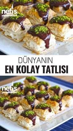 World& Easiest Dessert Recipe - Delicious Dünya'nın En Kolay Tatlı Tarifi – Nefis Yemek Tarifleri World& Easiest Dessert Recipe – Delicious Recipes - Yummy Recipes, Cake Recipes, Dessert Recipes, Yummy Food, Pasta Recipes, Mini Desserts, Easy Desserts, Beef Pies, Mince Pies
