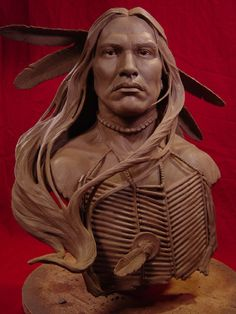 Wind In His Hair Clay Sculpture. Greg Polutanovich was born in Sault Ste. Marie, Ontario, Canada. Although a natural artist who impressed those around him with his talent and dedication to artwork from a very young age, he surprisingly did not discover sculpting until he moved to Southern California at age 21.Then a chance meeting with a film industry sculptor introduced him both to sculpting and the entertainment industry.