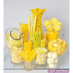 Yellow candy buffet!                                                                                                                                                                                 More