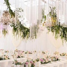Lighting | Fringing | Wedding | Chandeliers | Something Different