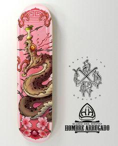 """324 Likes, 16 Comments - SKATE INK DESIGNS (@skateinkdesigns) on Instagram: """"SAKURA SNAKE ATTACK Nuevo skate de la colección que el gran @hombrearrugado está preparando en…"""""""
