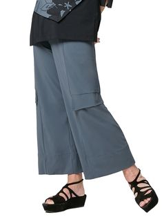 A straight, wide cut pant accented with mid-leg pocket flaps. Comfortable jersey knit enhances the versatile uses for this pant in your wardrobe. Dresses For Work, Pocket, Legs, Boutique, Clothes, Fashion, Porto, Outfits, Moda
