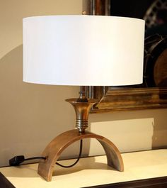 """Pair of Brass """"Arches"""" Table Lamps"""