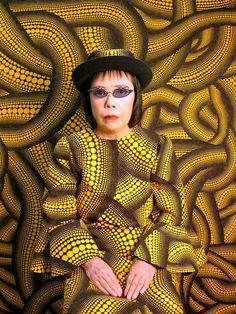 Japanese artist Yayoi Kusama - who has notably lived in a psychiatric institution for the last four decades - has been obsessed with dots and infinity for her entire career, an inspiration she attributes directly to her hallucinations. In an attempt to share her experiences, she creates installations that immerse the viewer in her obsessive vision of dots or infinitely mirrored space.