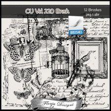 CU vol 220 Brush by Florju Designs #CUdigitals cudigitals.comcu commercialdigitalscrapscrapbookgraphics #digiscrap