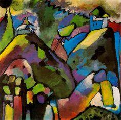'improvisation 9', huile de Wassily Kandinsky (1866-1944, Russia)