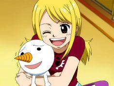 Lucy considering Plue as her pet