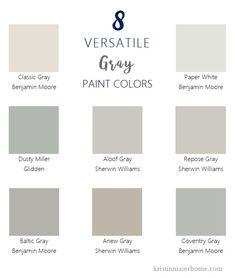 Paint Colors – Kristin Maier Home