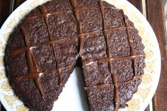 Chocolate Cake with Olive Oil and Barley Chocolate Olive Oil Cake, Chocolate Cake, Onion Pie, Pie Recipes, Food Porn, Cookies, Healthy, Desserts, Life