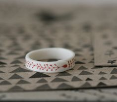 Simple porcelain ring. I love this one