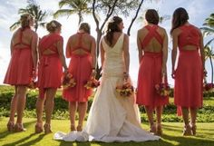 Choose our #Dessy Twist Dresses to give your bridesmaids options on how to wear their dress.