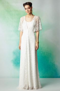 Элегантное свадебное платье в бохо стиле от Rembo Styling