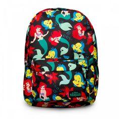 37.00 USD Loungefly Little Mermaid All Over Print Backpack Malá Mořská  Víla ccb6d64078