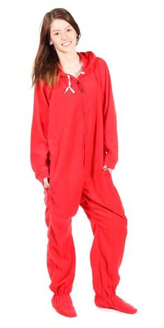 Adult red foot pajamas think