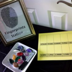 Make a fingerprint station for Cadette Secret Agent badge Whodunnit night
