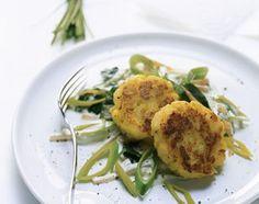 Kartoffeltätschli an Gemüse-Quark-Sauce - Rezeptdatenbank - LE MENU