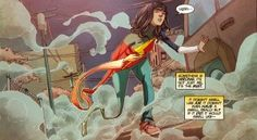 "What ""Ms. Marvel"" Gets Right About Comic Book Violence - Comic Book Resources "" Kamala Khan doesn't become a superhero because she's traumatized; there are no dead Thomas Waynes or Uncle Bens in her origin story. Instead, she stumbled into superpowers, and then, inspired in part by her family and in part by her Muslim faith, she decides that she wants to use them to help people."""