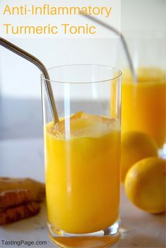 Anti-Inflammatory Turmeric Tonic. Cancer-fighting wonder-house. try this everyday | TastingPage.com