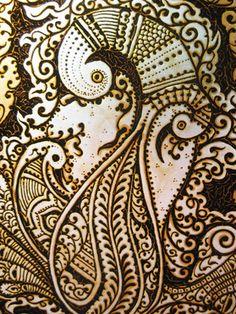 Henna On Silk by Humna Mustafa, via Behance