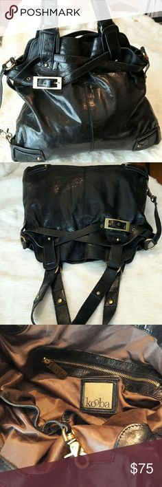 Kooba Leather Handbag Authentic in Pre used condition minor wear on the handles checkout all pictures.  It's a Gorgeous Bag!! Kooba Bags