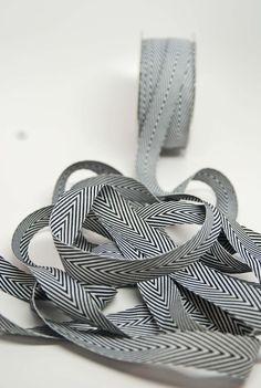 striped twill ribbon.