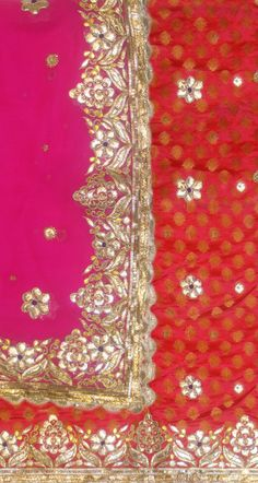 Nice work... Patiala Suit, Punjabi Suits, Churidar, Anarkali, Embroidery Art, Embroidery Designs, Pure Georgette Sarees, Lace Saree, Kutch Work