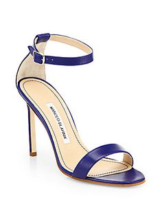 Manolo Blahnik Chaos Leather Ankle-Strap Sandals  $725