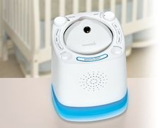 This easy-to-use soother plays the sounds of ocean waves, lullabies and Mozart. www.thebump.com