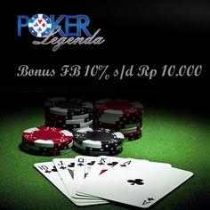 Poker Online Indonesia Terpercaya. Dapatkan sekarang juga bonus FB sampai dengan Rp 10.000. http://www.pokerlegenda.net