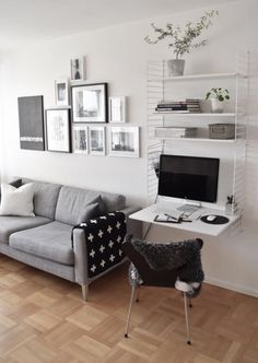 Así se integra un despacho en casa grande o pequeño Así se integra un despacho en casa grande o pequeño Small Home Offices, Piece A Vivre, Home Office Design, Dream Decor, Office Interiors, Interior Inspiration, Design Inspiration, Home And Living, Living Room Designs
