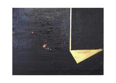 "Irene Russo "" Uscio"" trittico resin, concrete,pigment,gold ©irenerusso2016 #art #contemporaryart #black #blackonblack #monocrome #gold #italianart #italian #Avellino #minimal #abstract #painting #artist #resin #concrete #pigment"