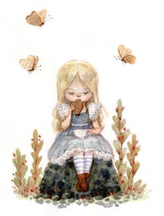 *BREAD BUTTERFLIES & ALICE ~ Tim Burton's Alice In Wonderland Concept Art