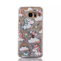 Glitter Liquid Quicksand Unicorn Phone Cases For Samsung Galaxy S7 Edge S6 edge Hard Case Cute Cartoon Fundas Back Cover C104 on Aliexpress.com | Alibaba Group