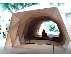 Cardboard Origami Shelters Unfold for the Homeless