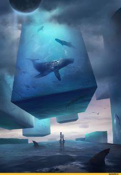 красивые картинки,D.L.Y Wang,art,арт,Sci-Fi,море