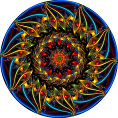 Sunflower Kaleidoscope by Ate My Crayons, via Flickr