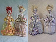 Cloth Doll Patterns by Stephanie Novatski.  Ladies of French Court