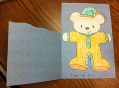 Tuck me in teddy bear for story time craft