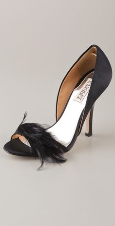 Badgley Mischka Feather Pumps