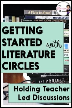 If you are new to literature circles or want enjoy talking about books with your students, teacher led lit circle discussions may be the way to go. Middle School Ela, Middle School English, English Lesson Plans, English Resources, English Classroom, English Teachers, Student Reading, Reading Groups, Literature Circles