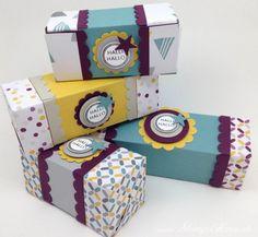 Stampin Up - Stempelherz - Box - Verpackung - Knallbonbon - Teleskopbox - Hallihallo - Doppelseitige Teleskopbox Halli Hallo 01