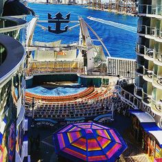 "Everything's better down at the Boardwalk. This Allure of the Seas ""neighborhood"" features an AquaTheater, carousel and classic boardwalk games."