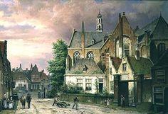 Deux hommes avec un chariot de Willem Koekkoek (1839-1895, Netherlands)