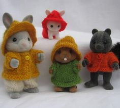 "Knitting pattern ""Rustic"" for Sylvanian & Calico Critters Families, cute kawaii PDF"