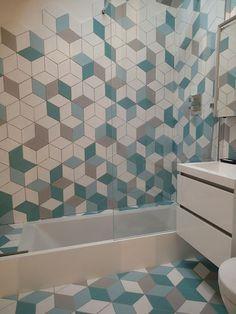 Carrelage de salle de bain / mural / en grès cérame / satiné LOSANGE / LOZENGE…