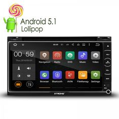 """6.95"""" Android 5.1 Lollipop Quad Core 64-Bit Operating System Double Din Car DVD Player Built-in DAB+ Stereo GPS/ OBD2 head unit"""