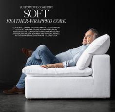 Cloud Modular Leather U-Sofa Chaise Sectional