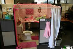 Funny office pranks are pretty much a given on April Fool's Day but work pranks are perfect anytime since your colleagues won't expect it. Funny Office Pranks, Work Pranks, Office Humor, Best April Fools, April Fools Day, Microsoft Surface, Princess Bathroom, Office Cubicle, Office Desk